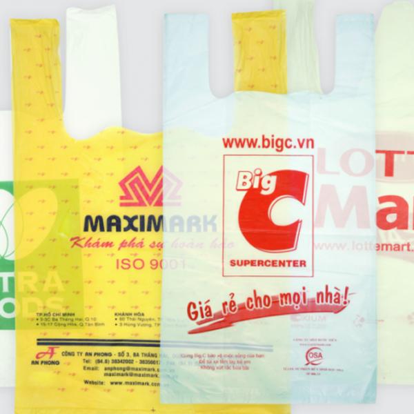 Túi xốp 2 quai siêu thị
